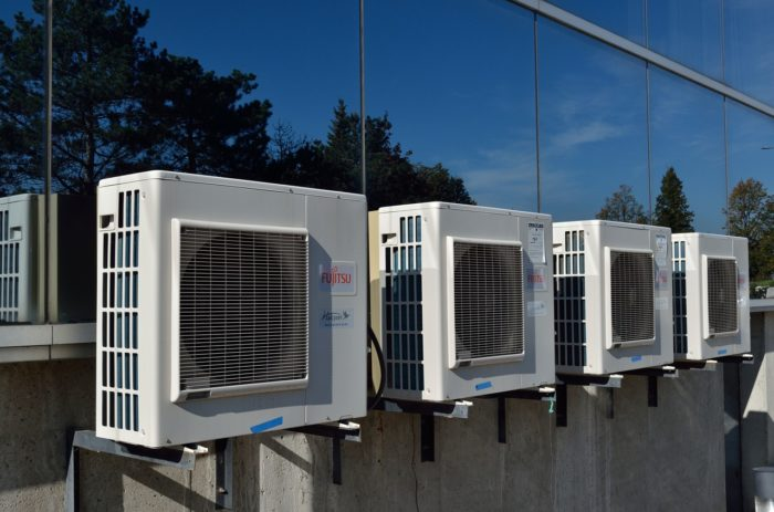 HVAC units on the exterior of a building
