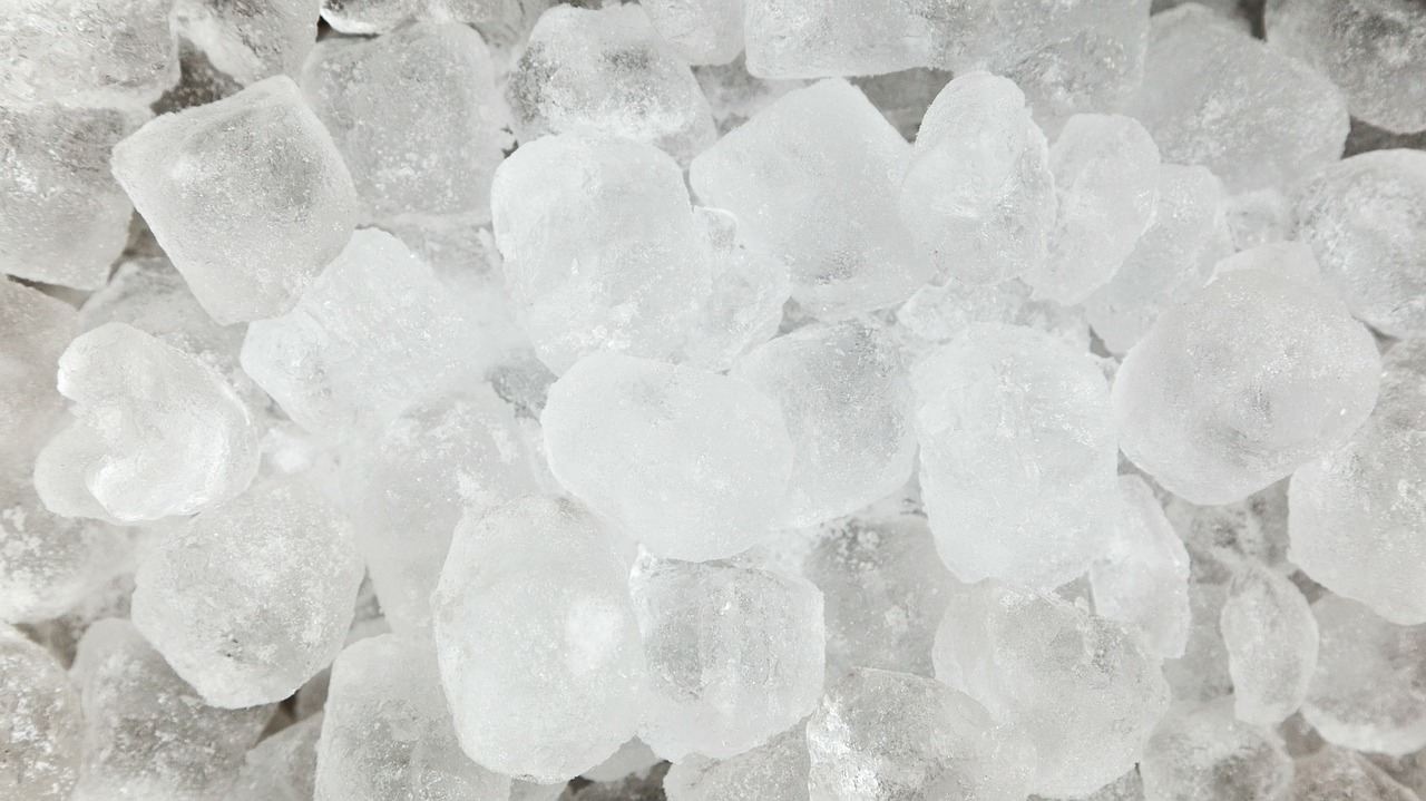 Close up of ice