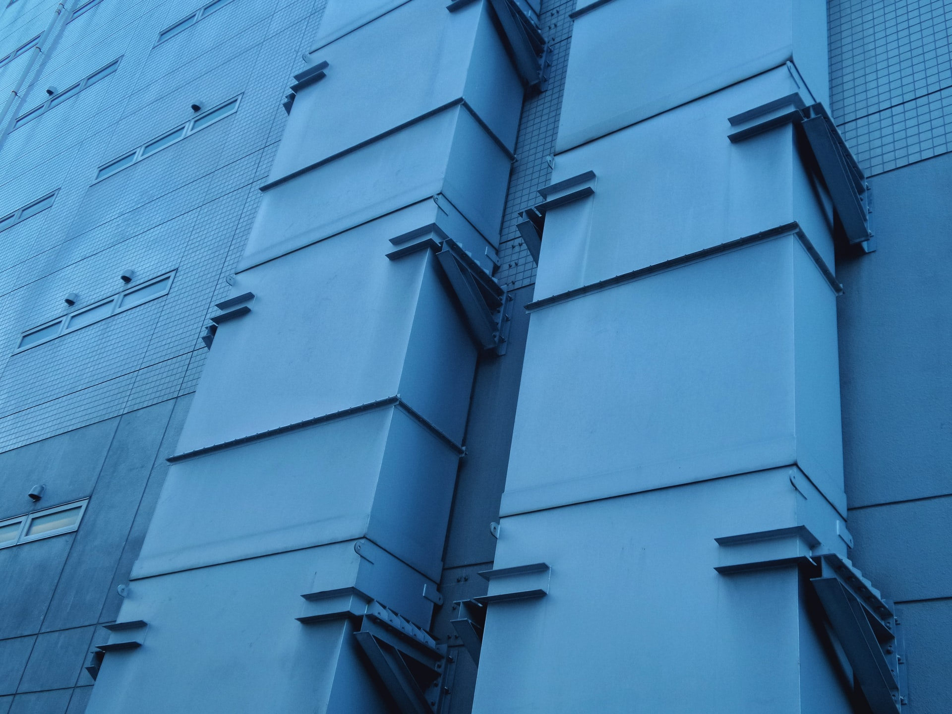 Blue ductwork
