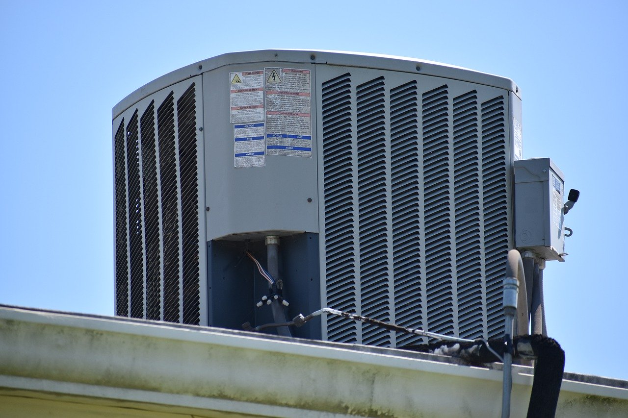 HVAC unit located on a roof